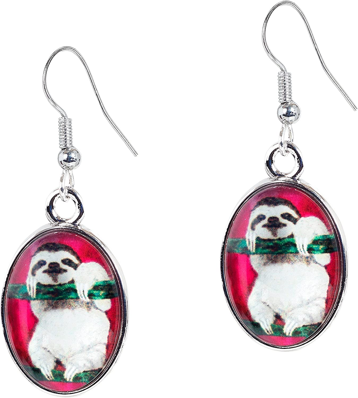 Sloth Animal Earrings Taken From Original Paintings