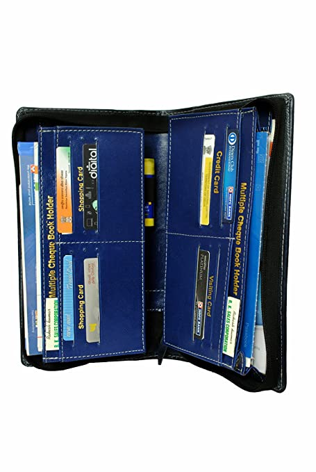 144c5f717 Pareek All New Expanding and Multiple Cheque Book Holder Blue