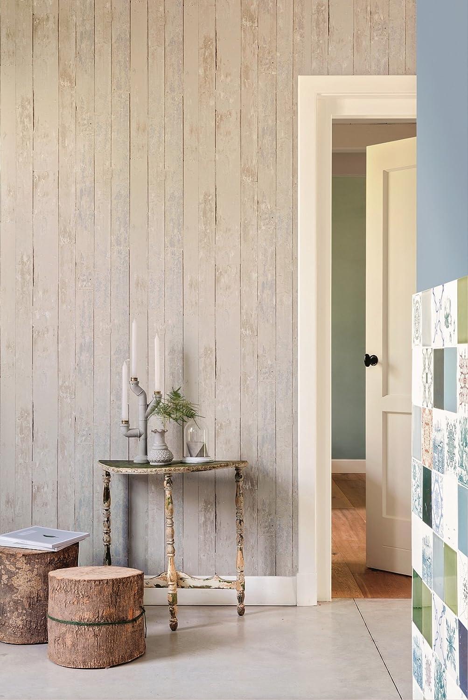 vlies tapete antik holz rustikal beige grau verwittert - Wandgestaltung Trkis Grau Beige