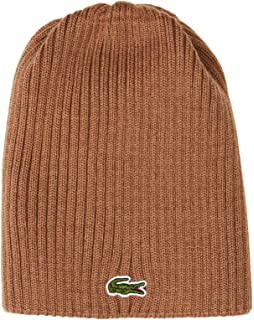 c67672f81 Lacoste Men s Ribbed Beanie with Flap Accessories  Amazon.co.uk ...