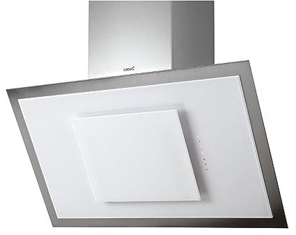 Luxus dunstabzugshaube cm cata kopffrei weißglas edelstahl
