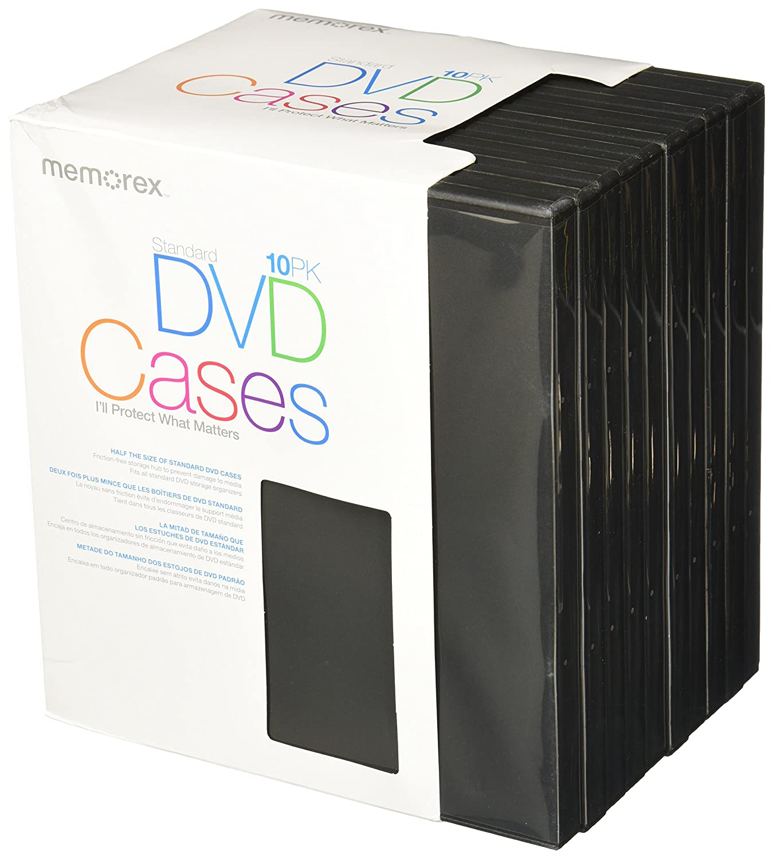 Amazon.com: Memorex Standard DVD Cases - 10 Pack: Home Audio ...