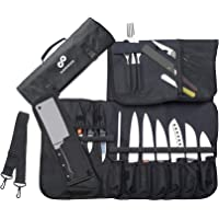 EVERPRIDE Chef's Knife Roll Bag (15 Slots) Holds 10 Knives, Meat Cleaver and Kitchen Tools – Bag Only