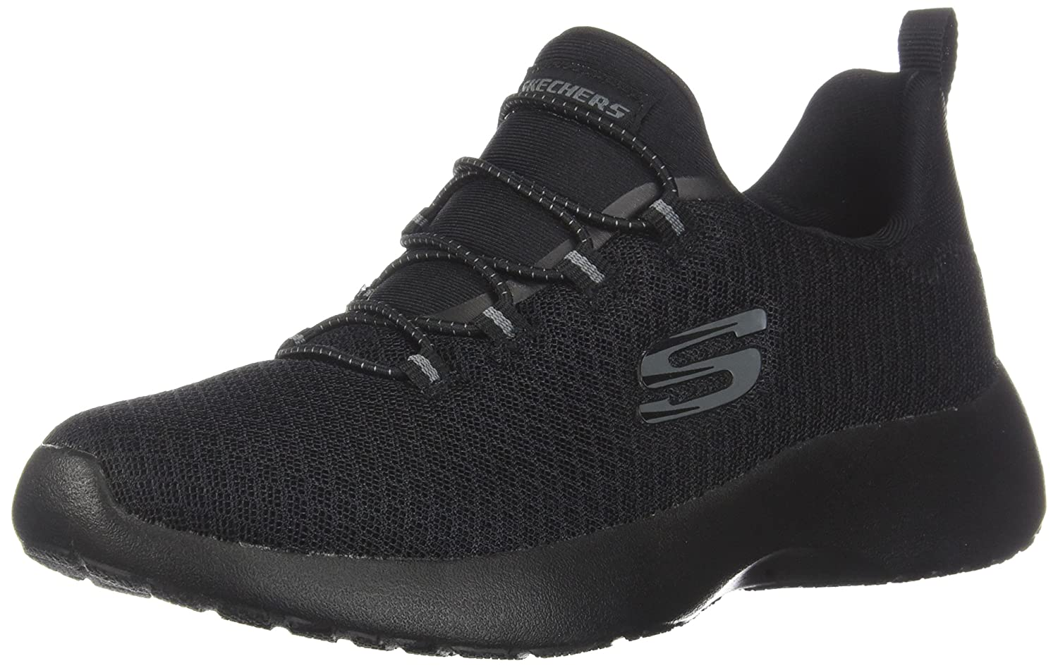 3b50feed6e08 Skechers Dynamight Womens Ladies Trainers Black Black - Black Black - UK  Sizes 3-8  Amazon.co.uk  Shoes   Bags