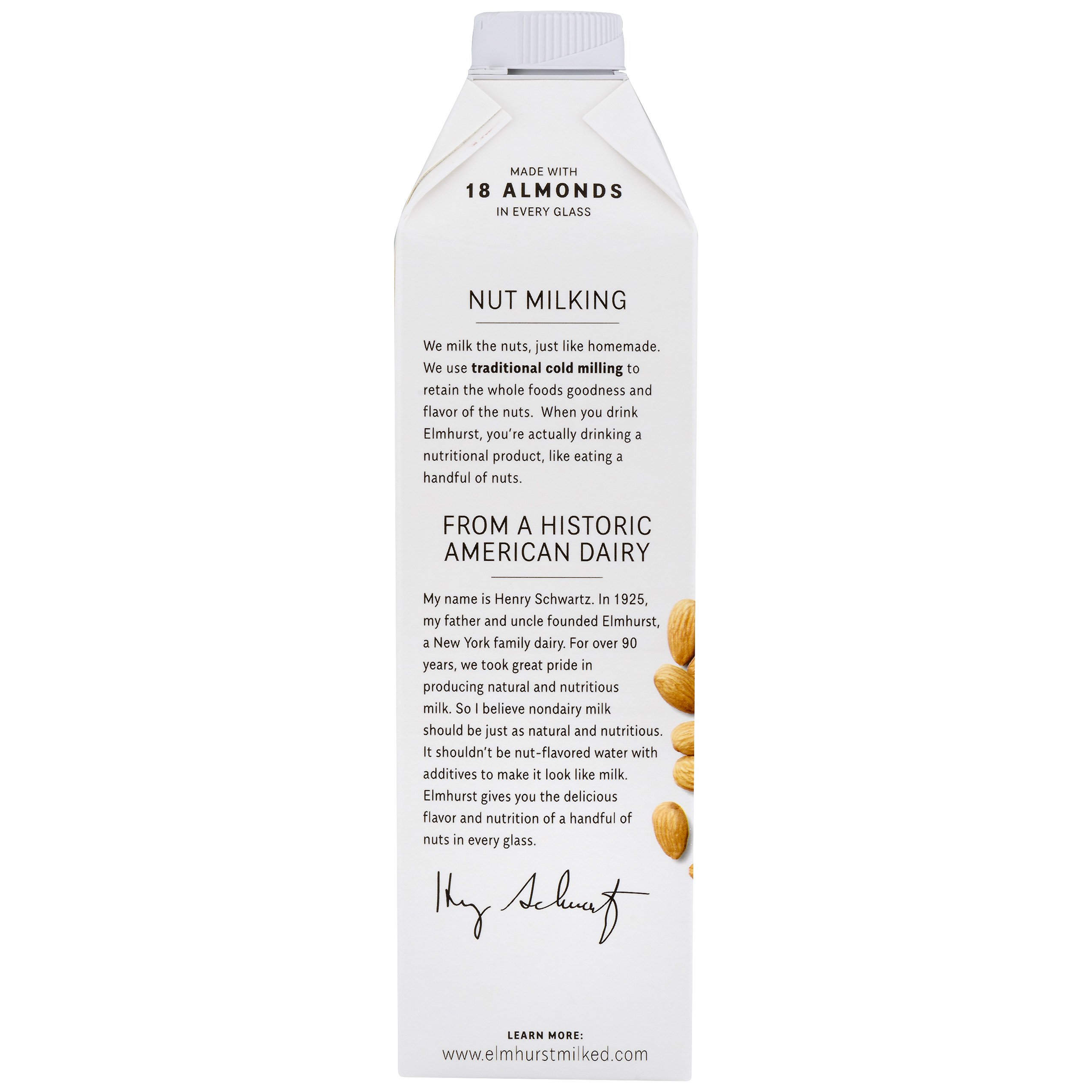 Elmhurst Milked - Almond Milk - 32 Fluid Ounces (Pack of 6) Only 5 Ingredients, 4X the Protein, Non Dairy, Keto Friendly, No Added Gums or Emulsifiers, Vegan by Elmhurst (Image #6)