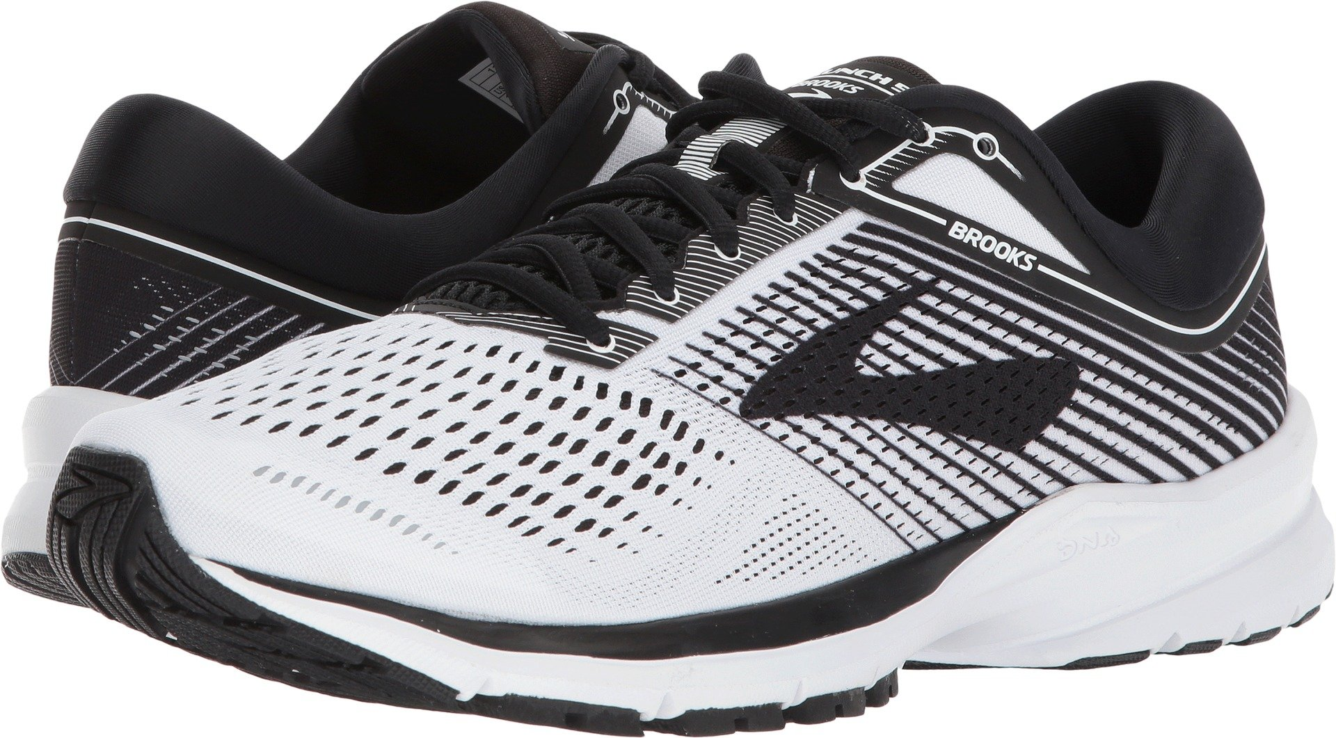 Brooks Men's Launch 5 White/Black/White 10.5 D US by Brooks