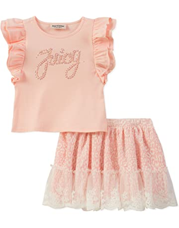 418774b820 Juicy Couture Baby Girls  Long Sleeve Bodysuit   Jumper Dress Set