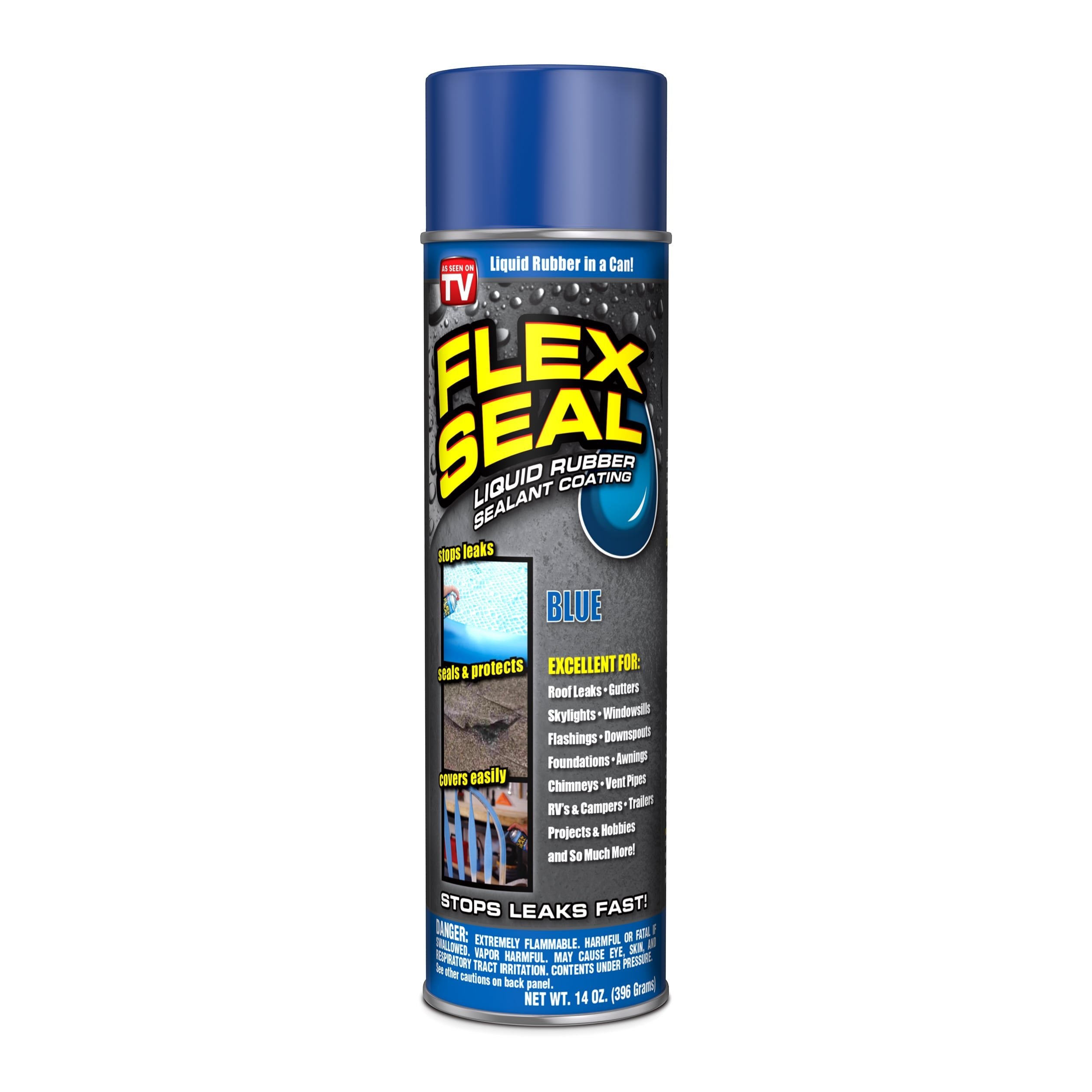 Flex Seal Spray Rubber Sealant Coating, 14-oz, Blue