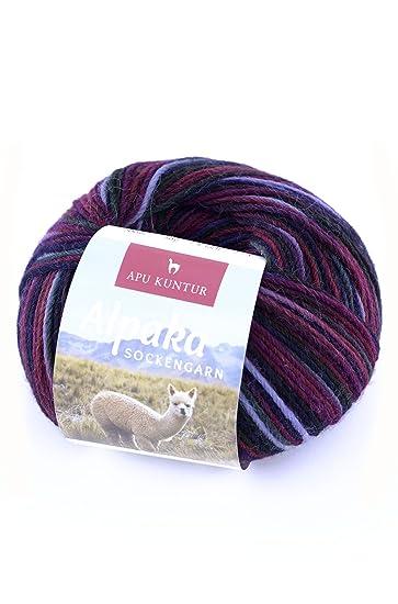 APU KUNTUR Alpaka Socken-Wolle   Strick-Häkel-Garn Weich, Warm und ...