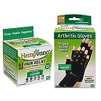 Hempvana Pain Relief Cream Enriched with Cannabis Seed Extract + Hempvana Arthritis...