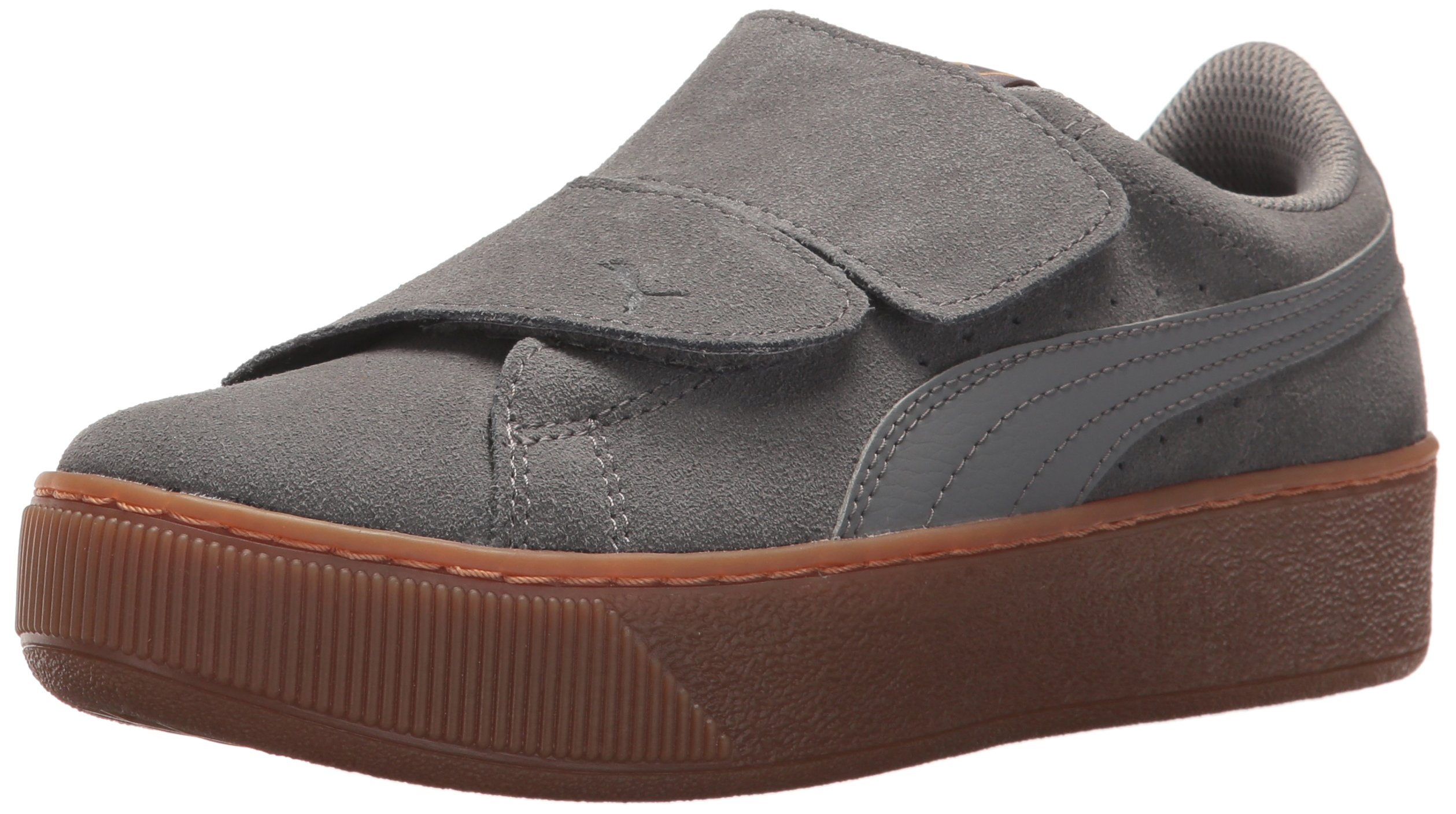 PUMA Women's Vikky Platform Velcro Sneaker, Smoked Pearl-Smoked Pearl, 6 M US