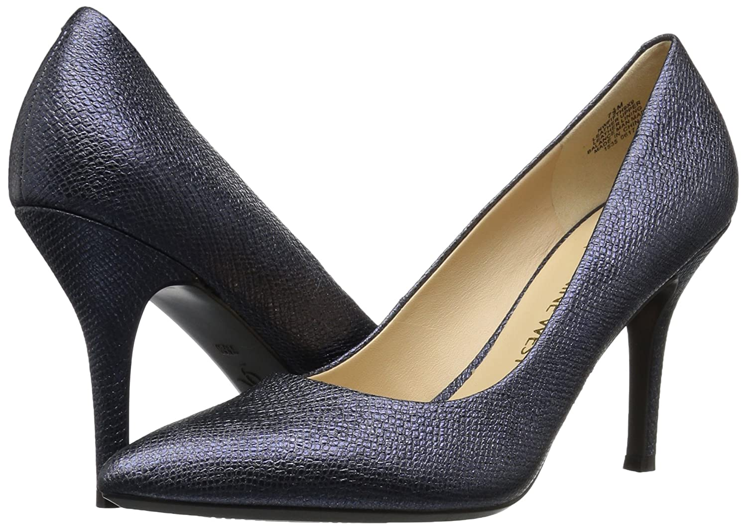 Nine West Women's FIFTH9X Fifth Pointy Toe Pumps B06WVBFCLB 8.5 B(M) US|Navy Metallic