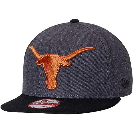 buy online 594f3 c81fc ... order texas longhorns new era heather grand 9fifty adjustable snapback  hat graphite black da748 723bf