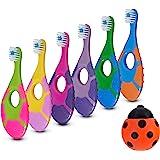 6 Pack - Baby Toothbrush, 0-2 Years, Soft Bristles, BPA Free   Toddler Toothbrush, Infant Toothbrush, Training…