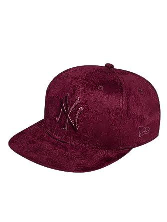 ba1f31a9c1d New Era Men Caps Snapback Cap Suede ToneNY Yankees red S M  Amazon ...