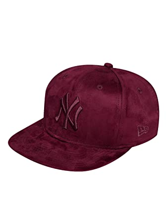 c625357bc New Era Men Caps/Snapback Cap Suede ToneNY Yankees red S/M: Amazon ...