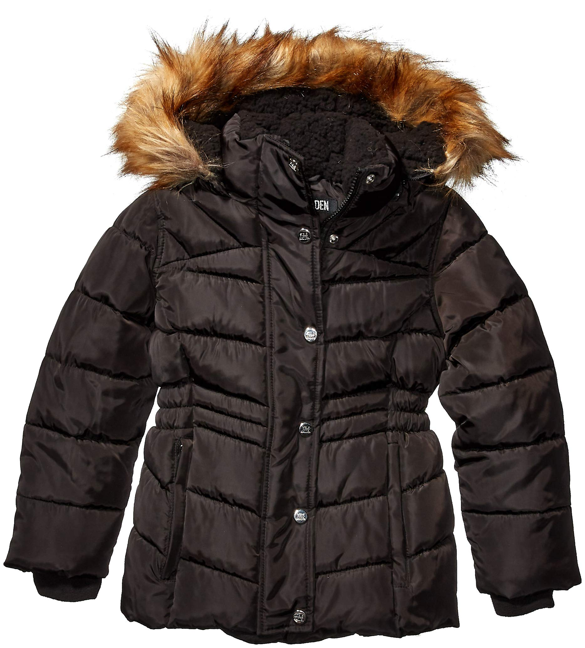 Steve Madden Girls Girls' Big Bubble Jacket (More Styles Available), Signature Black, 14/16 by Steve Madden