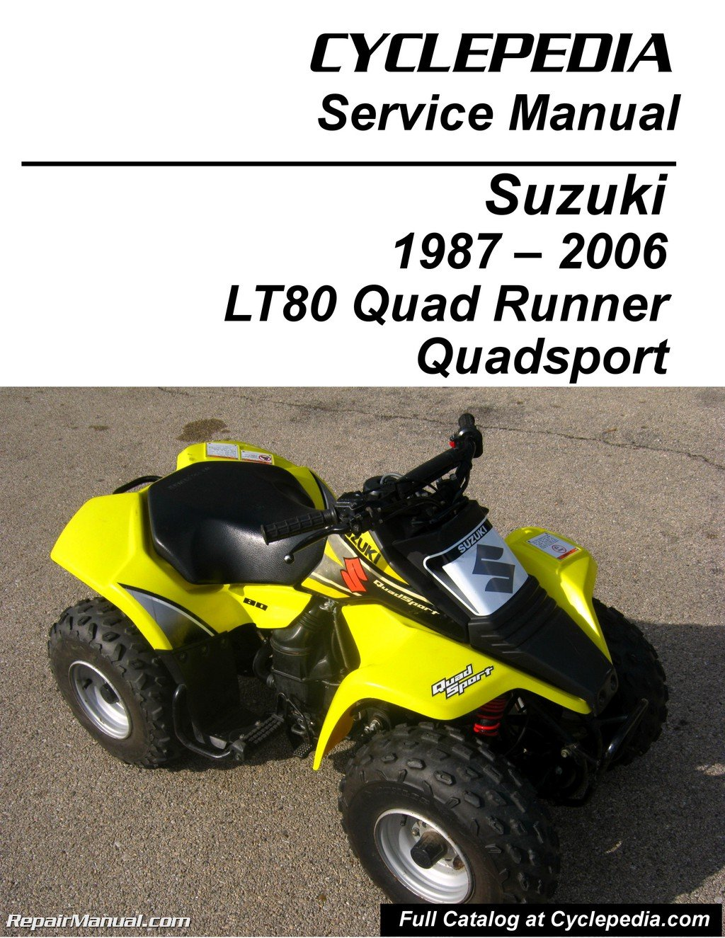 CPP-167-P Suzuki LT80 Quadsport, Kawasaki KFX80 Cyclepedia Printed Service  Manual: Manufacturer: Amazon.com: Books