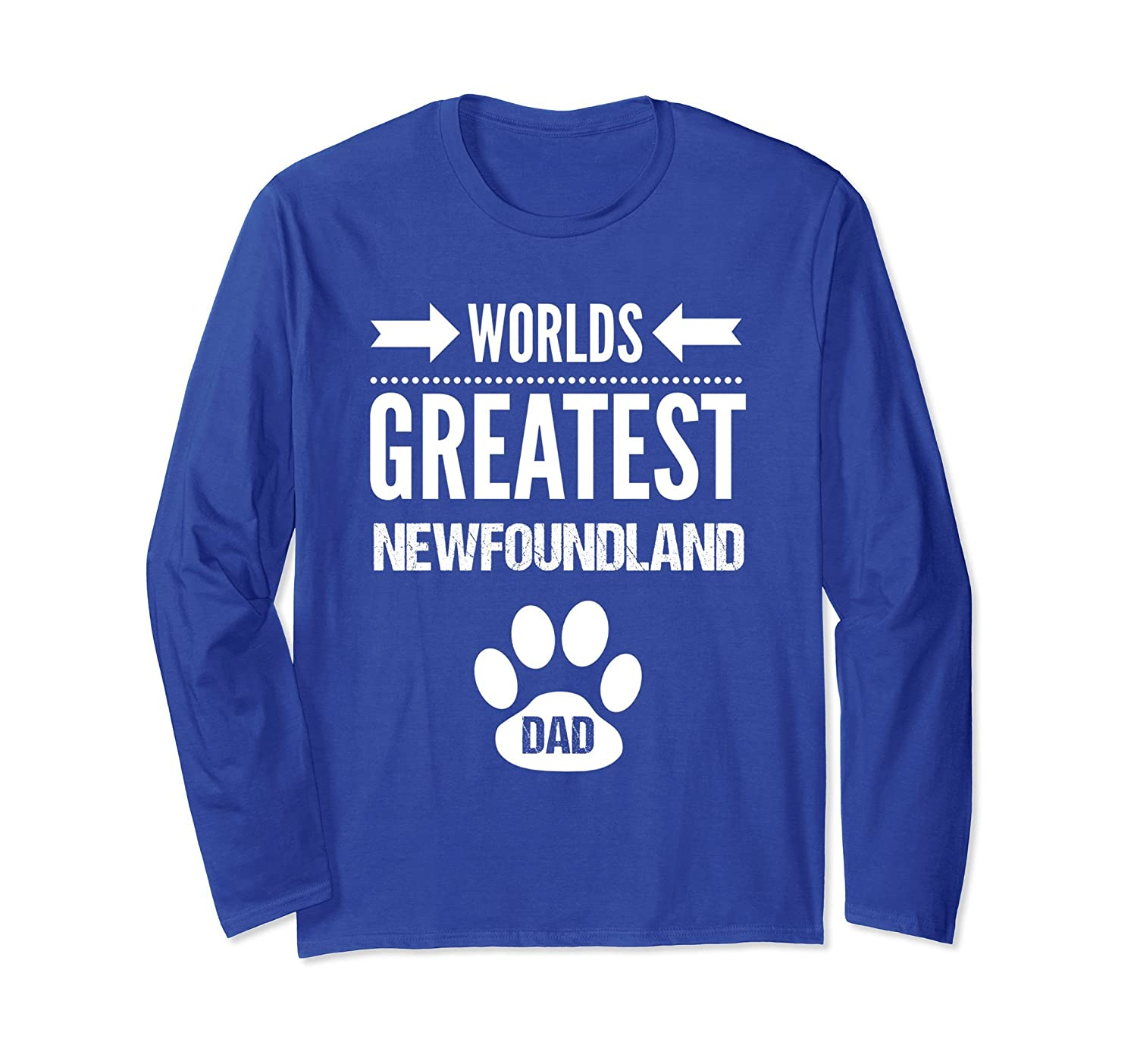 Worlds Greatest Newfoundland Dog Dad Long Sleeve Tee Shirt-TH