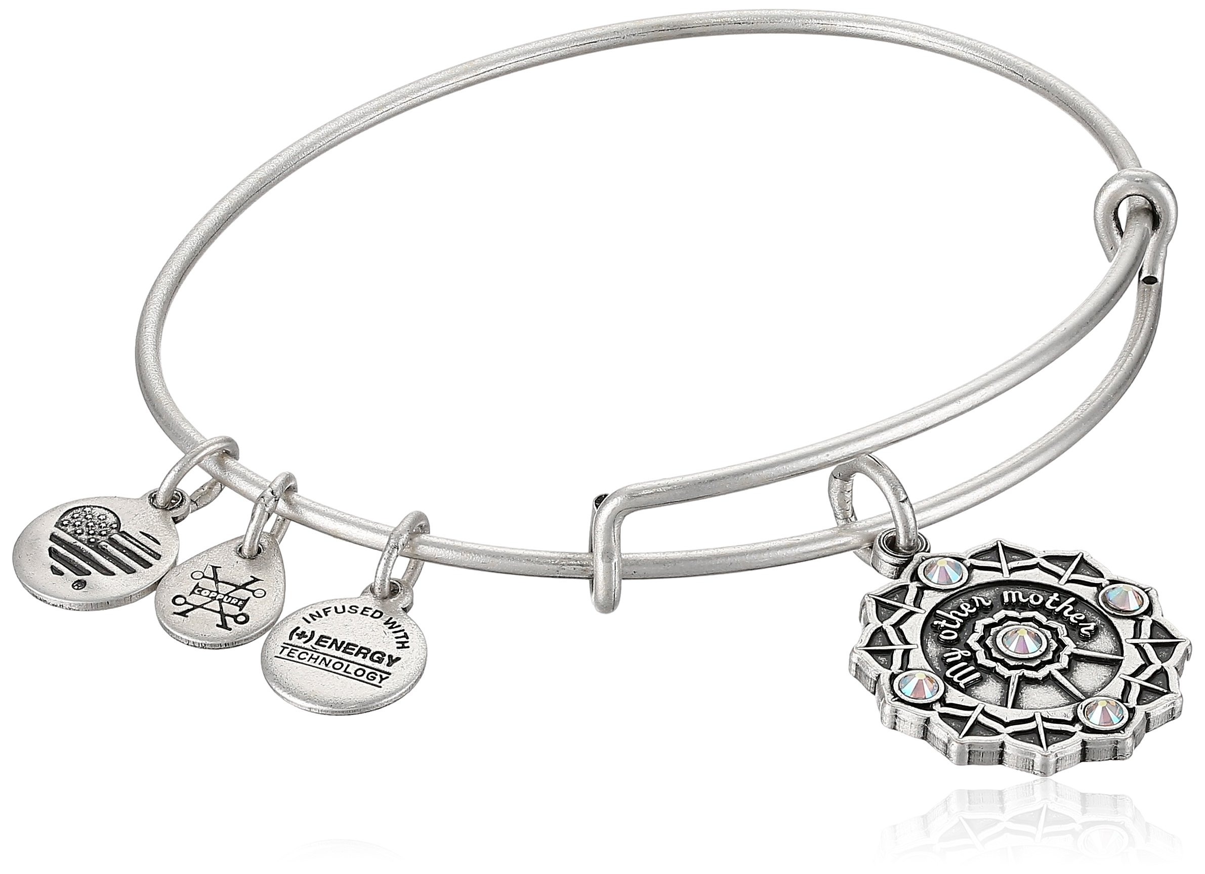 Alex and Ani Womens Mother of the Groom EWB Bangle Bracelet, Rafaelian Silver, Expandable