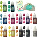 Natural Skin Safe Food Grade Coloring (Rainbow Set of 12 colors) - 4.3oz - Vegan, Baby Friendly, Gluten Free for…