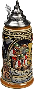 Munic Octoberfest (Muenchen Oktoberfest) Full Relief German Beer Stein