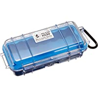 Pelican 1030-026-100 Micro Case with Clear Lid and Carabineer (Blue)