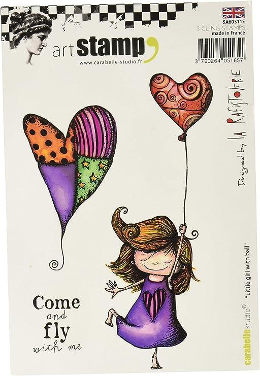 Carabelle Studio Little Girl with Ball Sello Cling Art,niña con ...