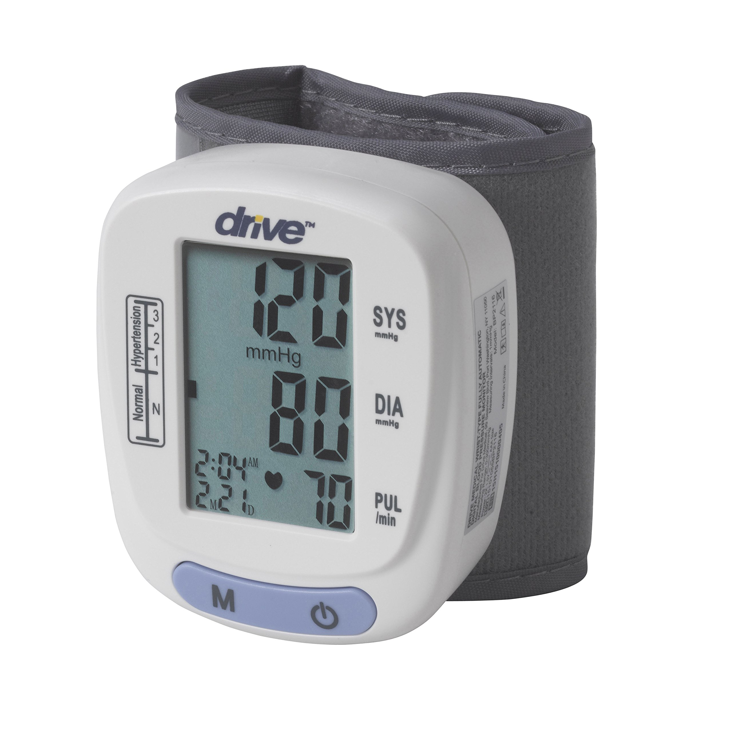 Drive Medical Automatic Blood Pressure Monitor/Wrist Model, White