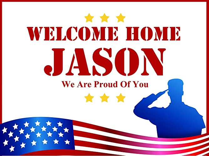 custom welcome home military theme personalized poster size 24x36 48x24 48x36 military