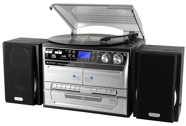 Soundmaster MCD4500 - Tocadiscos con reproductor de CD y casete ...