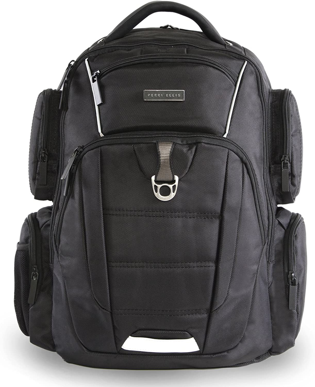 Perry Ellis 9-Pocket Professional Laptop-P350 Business Backpack