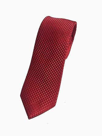 Corbata roja - Corbata roja estrecha fabricada a mano - Corbatas ...