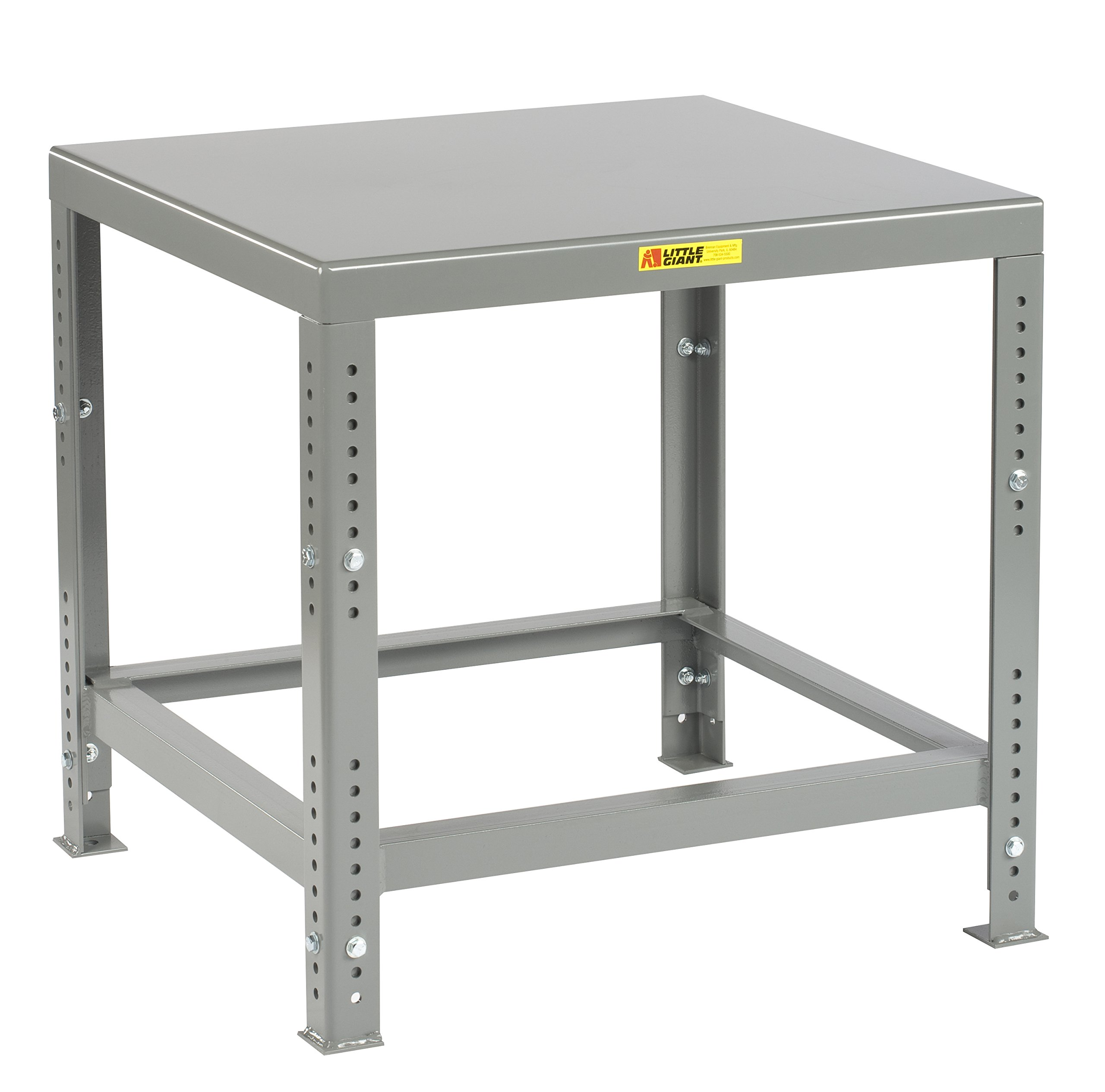 Little Giant MTH1-2830-AH Welded Steel Adjustable Height Machine Table, 10,000 lb. Load Capacity, 30'' to 37'' Adjustable Height, 30'' x 28'', Gray