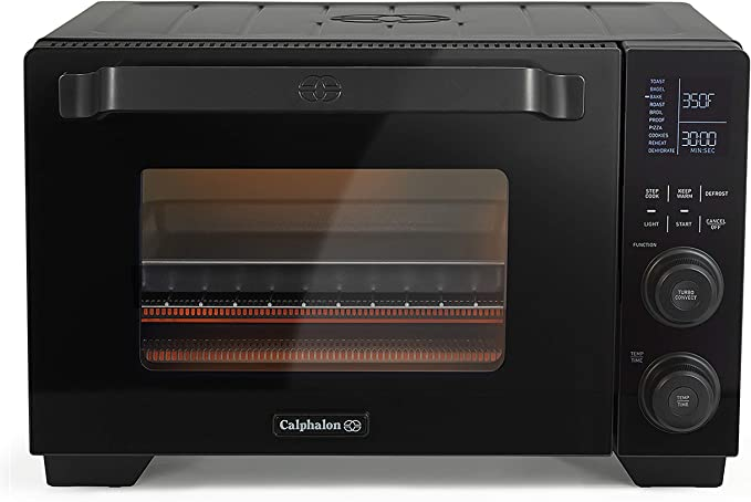 Amazon.com: Calphalon Performance Cool Touch Toaster Oven with Turbo Convection, Large (2106488), Black/Silver: Kitchen & Dining