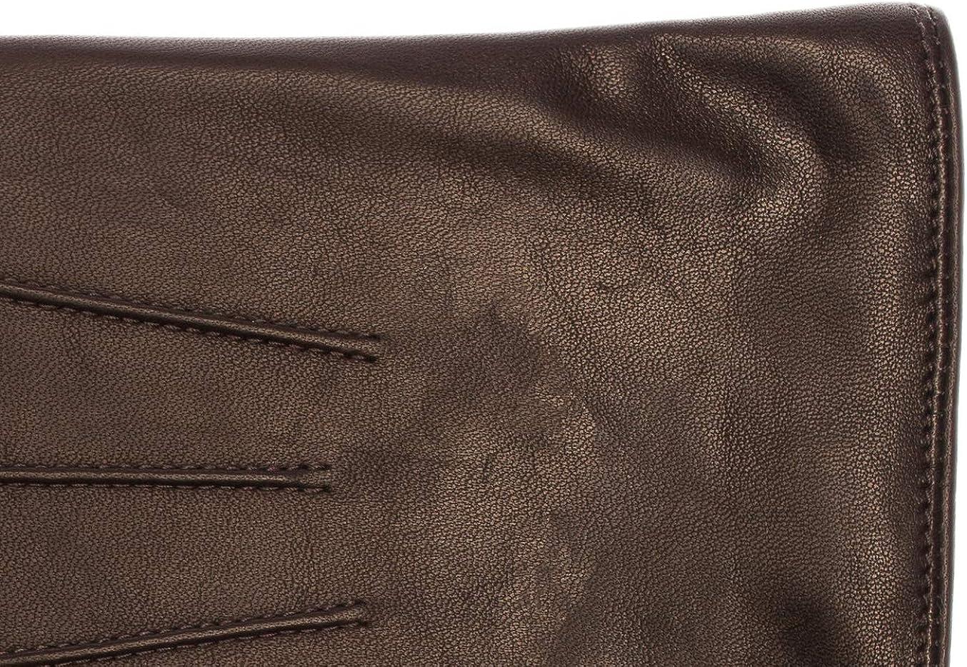 trois s/ûrpiqures EEM gants classiques BEN en cuir de mouton souple pour hommes doublure chaude en polaire