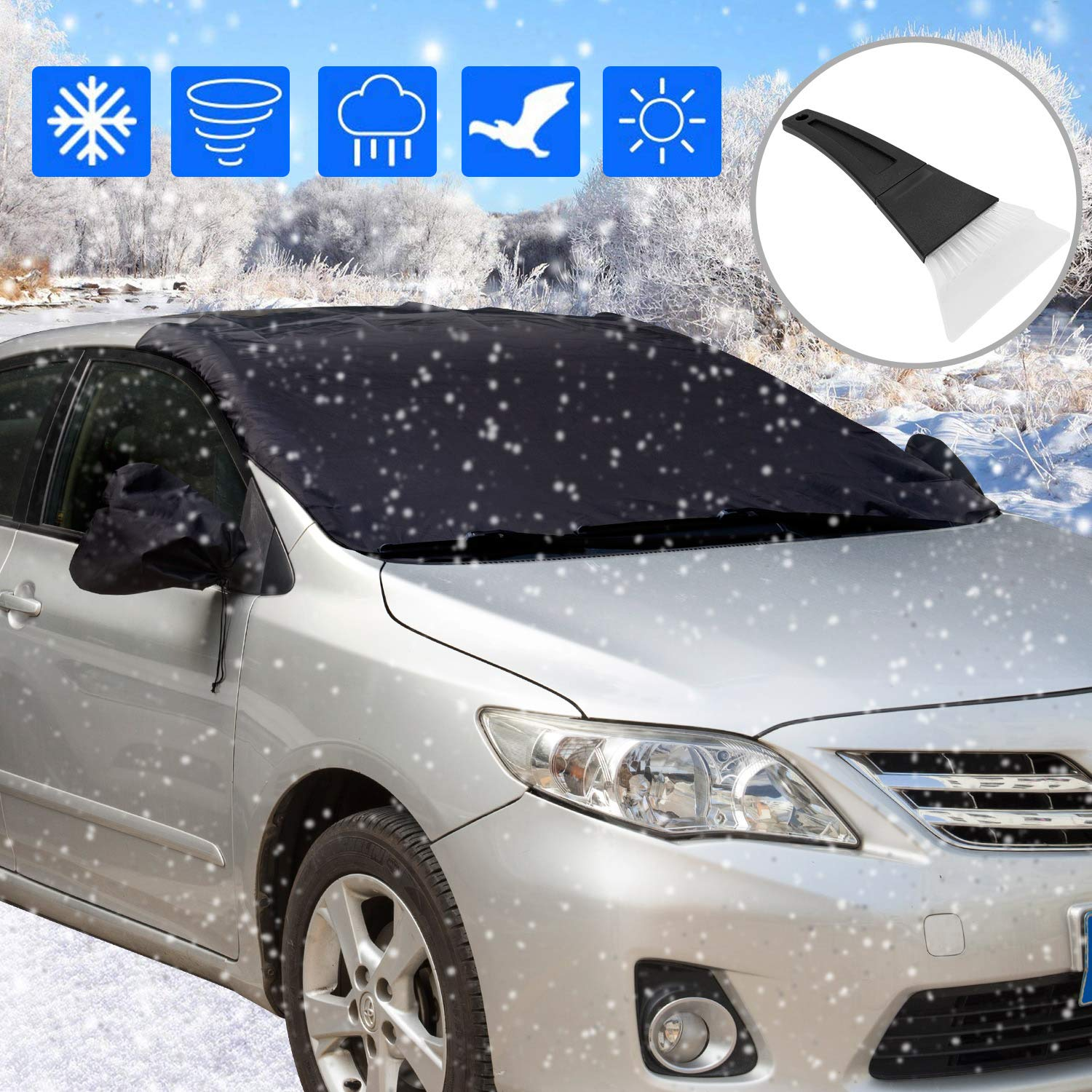 VAN WINDSCREEN ANTI FROST//ICE//SNOW COVER PROTECTOR WINDSHIELD FOR FORD TRANSIT