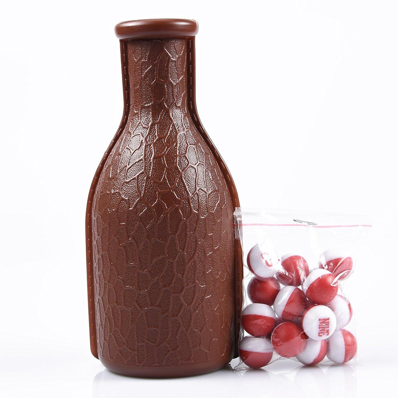 Mace Billard – Brown Kelly Pool Shaker Bouteille avec 16 Billes Numérotées Tally erbsen/œufs