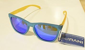 Gafas de sol polarizadas Bimbo Bimba INVU K 2420 D Azul Amarillo Lentes 100% UV