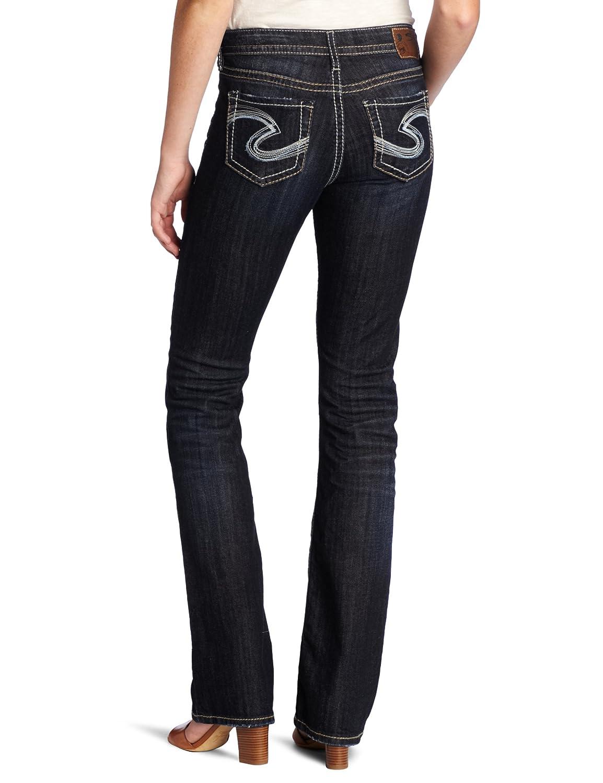 a7f23373 Silver Jeans Women's Natsuki High Rise Bootcut Jean, Dark Blue, 25x31:  Amazon.in: Clothing & Accessories