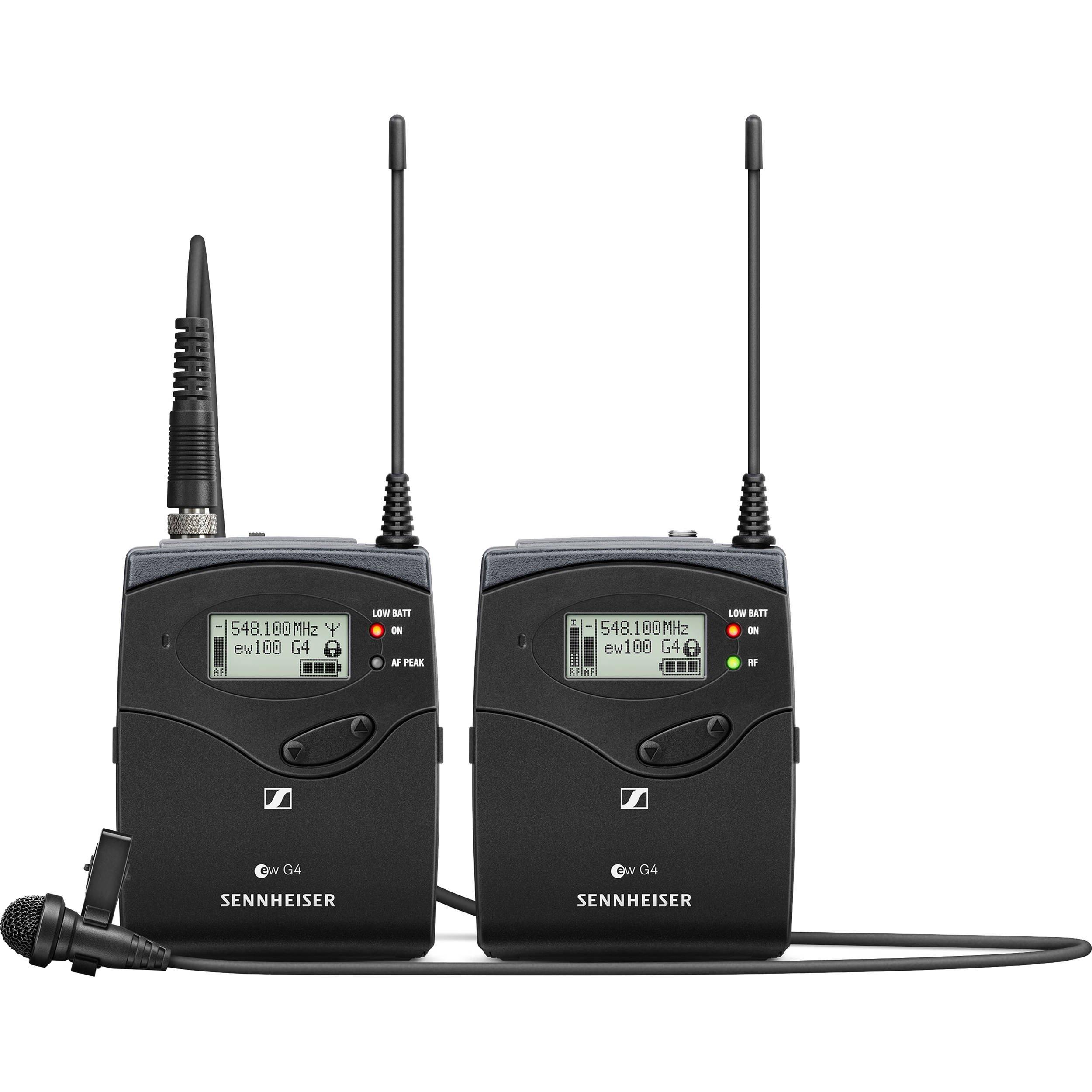Sennheiser ew 112P G4-A (516-558 MHz) ME2-II Omni-Lavalier Portable System, 2''