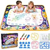 Aqua Magic Mat - Kids Painting Writing Doodle Board Toy - Color Doodle Drawing Mat Bring Magic Pens Educational Toys for Age