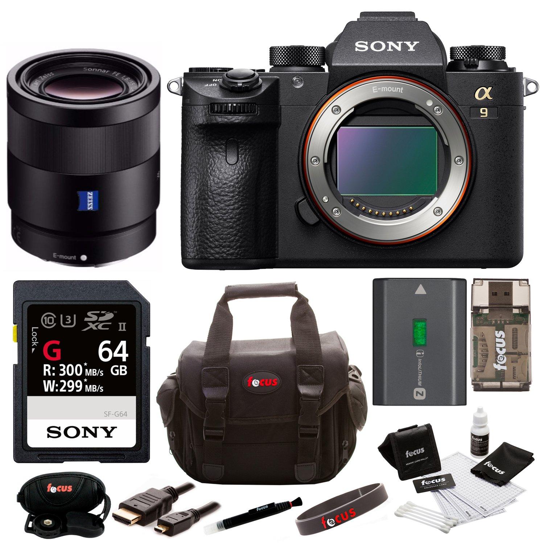 Sony A9 Full Frame Cámara Sin Espejo w/sonnar T Fe 55 mm F1.8 Lente ...