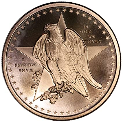 """/""""Texas Commemorative/"""" 1 oz .999 Copper Round Remember the Alamo"""