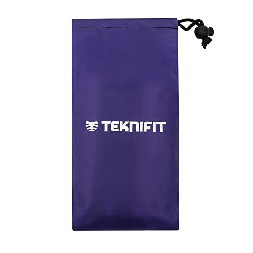Teknifit Resistance Bands for Women - Select either Set OR Single Bands - 30cm Fitness Loop Band/Squat/Booty Bands in Pink for Home and Gym Workouts. Set Includes FREE Carry Case & Exercise Guide