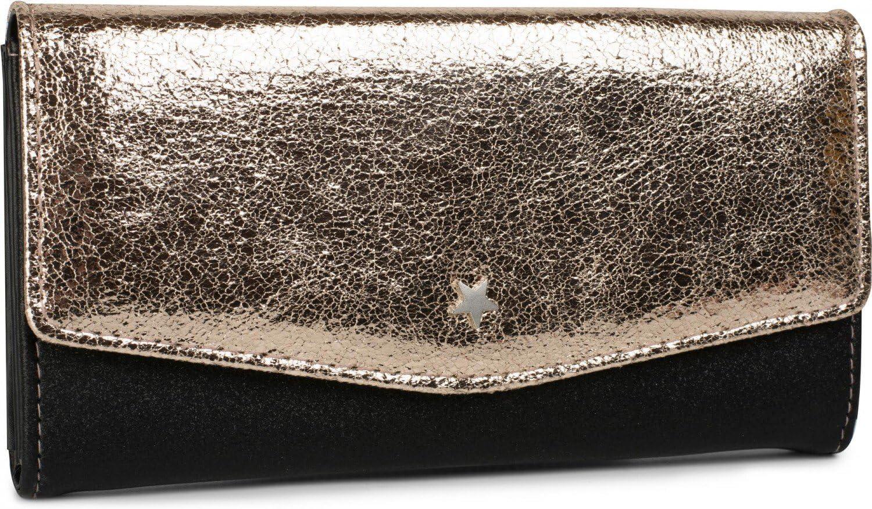 couleur:Noir // Dor/é rose m/étallis/é porte-monnaie femme 02040069 styleBREAKER sac portefeuille doux mod/èle double teinte et petit clou en forme d/étoile fermeture /à bouton-poussoir