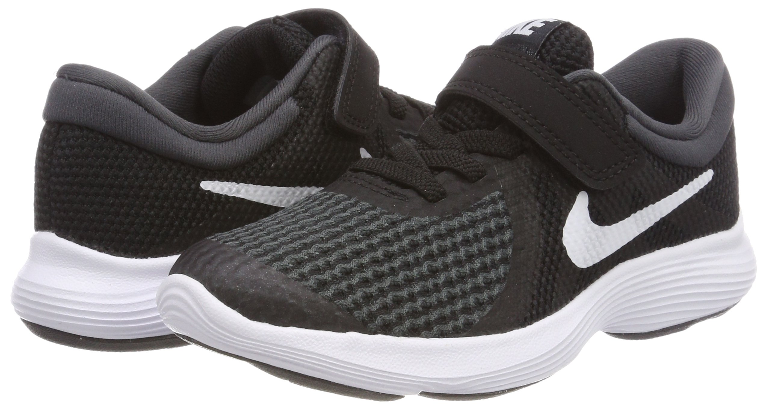 Nike Boys' Revolution 4 (PSV) Running Shoe, Black/White-Anthracite, 10.5C Youth US Little Kid by Nike (Image #5)