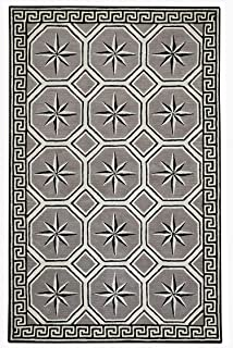 product image for Capel Perimeter Grey 5' x 8' Rectangle Hand Tufted Rug