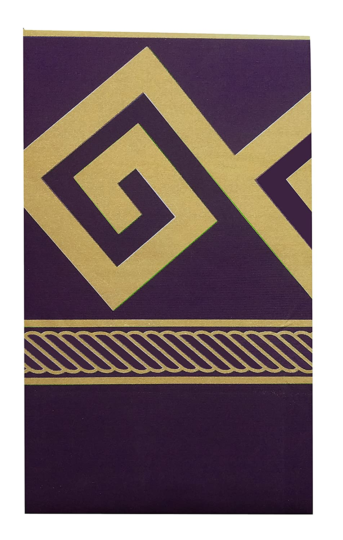 PURPLE /& GOLD COLOUR GREEK EFFECT KEY ROPE DESIGN BEDDING DUVET COVER SET