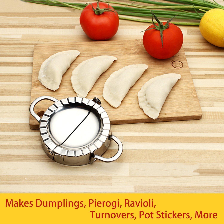 stainless steel Stainless Steel Ravioli Mould Dumpling Maker Wrapper Pierogie Pie Crimper Pastry Switty